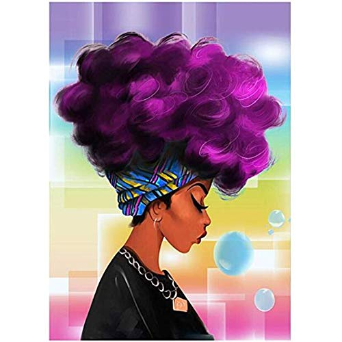 Ayjxtz Jigsaw puzzle 1000 piece Fashionable purple haired girl with art gift jigsaw puzzle 1000 piece falcon Great Holiday Leisure,Family Interactive Games50x75cm(20x30inch)