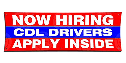 Now Hiring CDL Drivers Apply Inside Banner (1ft X 3ft) Employment Agency Open Sign Job Work Positions