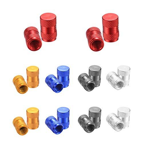 N / A Aluminium-Ventilkappen, Autoreifen-Ventilkappen, Ventilschaftkappen und Kappen für Auto, Motorrad, Fahrrad (20 Stück, 5 Farben)