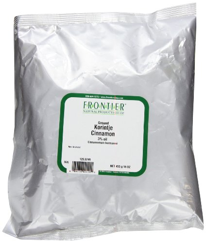 Frontier Cinnamon Powder, Korintje (a Grade) (3% Oil), 16 Ounce Bags (Pack of 2)