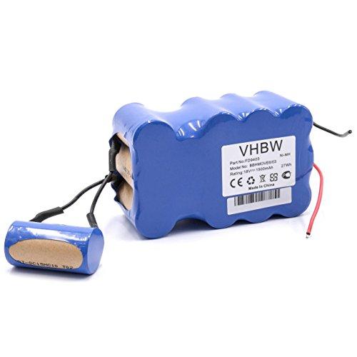 vhbw NiMH batería 1500mAh (18V) para aspiradora robot autónomo de limpieza Bosch BBHMove4, BBHMove6, BBHMove6/03