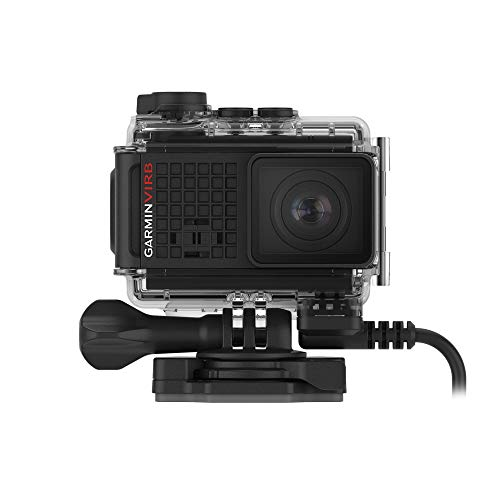 Garmin VIRB Ultra 30 with Powered Mount, 4K Action Camera with Voice Control and Data Overlays, Includes Powered Mount