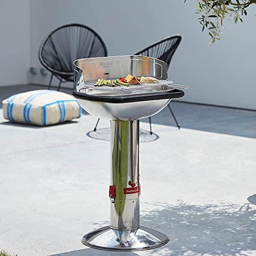 Barbecook Loewy 55 barbecue au charbon en inox couleur métallique Ø 56x34cm H 100cm