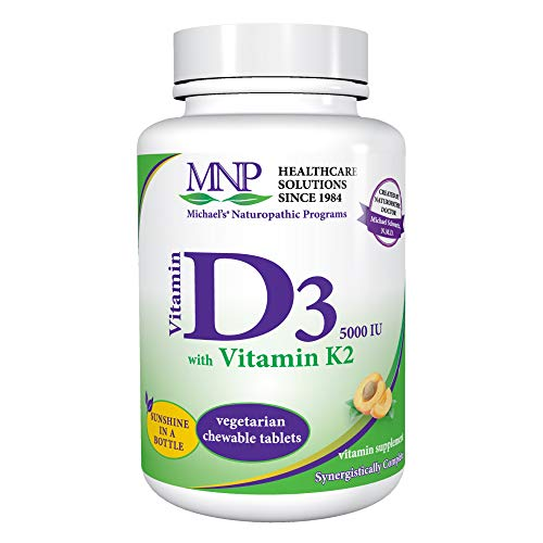 Michael's Naturopathic, Vitamin D3 + K2, Natural Apricot Flavor, 5000 IU, 90 Sublingual Tablets