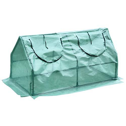 HOMCOM Outsunny Invernadero caseta de Tubo Acero y plastico Jardin terraza Cultivo de Plantas