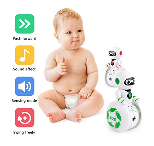 Mini Smart Musique robot, Mamum Mini Electronic Smart Bot robot Astronaute enfants Musique lumière Jouets