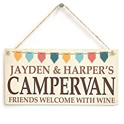 Campervan Gifts: Personalised Sign