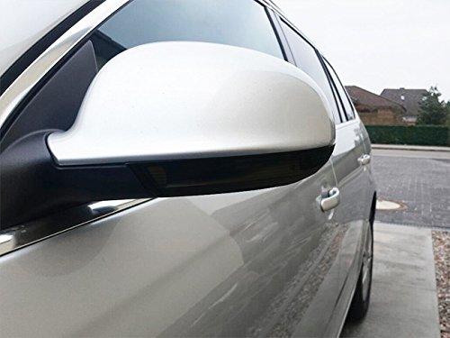 Klare LED Rauchglas Spiegel- Blinker Schwarz Links+Rechts Set mit E-Prüfzeichen