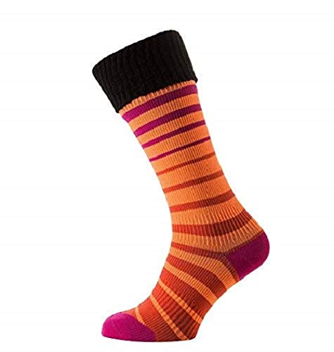 SealSkinz Waterproof Socken, Orange/Coral/Pink/Black, L/XL