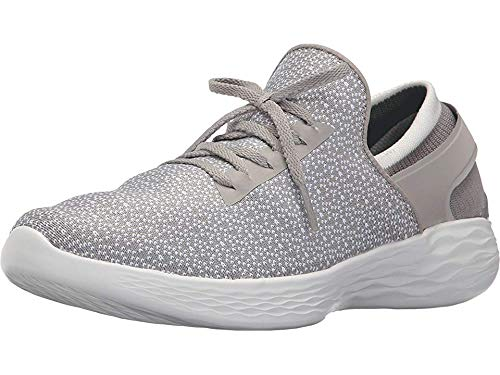 Skechers Women's YOU Inspire Slip-On Shoe,Gray,7 M US