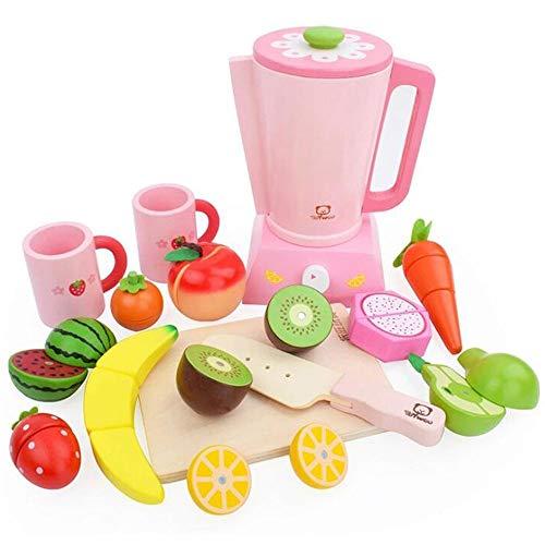 HSCW Simulación de madera Juicer Juego de juegos para niños Juguetes de juguetes de corte de alimentos Frutas magnéticas y verduras Juguete magnético Juguete de la cocina Juego de juegos para niños en
