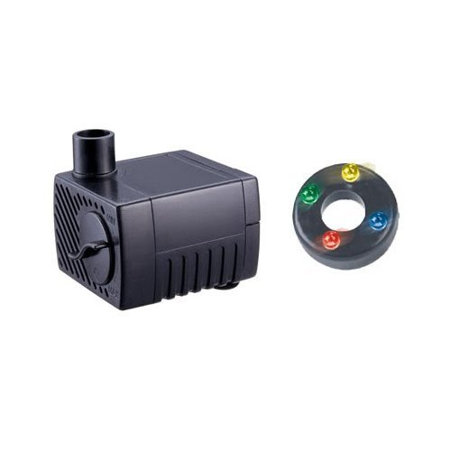 Jebao PP-300LV+LED Submersible Fountain Pond Water Pump with LED Light, 2.5W