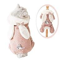 SHUUMEEKA犬服 ペット服 冬 防寒 ドッグウエア つなぎ 猫服 犬用コスチューム ふわふわ 小中型犬 フード付き