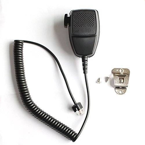 GoodQbuy Handheld Speaker with Mic Microphone Hanger for Rj45 8-pin Motorola Radio Cdm1250 Cdm750 Gm300 Gm338 Gm950 Maxtrac M1225 M200 GR500