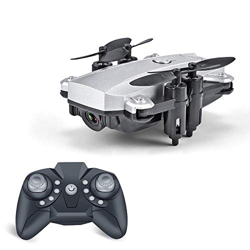 REDWALL Faltbare Drohne mit Kamera HD 1080P Helikopter Ferngesteuert mit GPS Navigation Active Track Kopfloser Modus Gestensteuerung Quick Shot Live Video Ideal für Kinder und Anfänger,Silver