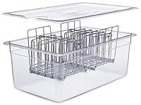 蓋付き真空容器。 Container/Rack/Lid 26 Quarts クリア