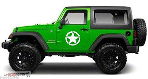 myrockshirt 2 x US Army Stern Jeep Willy 30 cm MATT! Aufkleber,Sticker, Autoaufkleber,Auto,Lack,Scheibe, Tuning,