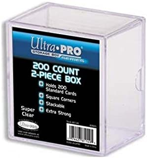 Ultra PRO All Team 2-Piece Storage Box, 200 Count, Clear