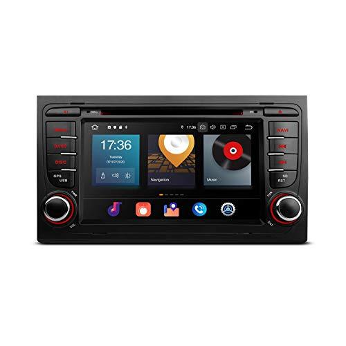 KAUTO 7'Android 10.0 Estéreo para automóvil Octa Core 64G ROM 4G RAM Auto Radio Reproductor de DVD 2 DIN Navegación GPS Soporte BT5.0 WiFi DVR OBD2 Dab TPMS Auto Play para Audi A4 S4 Seat Exeo