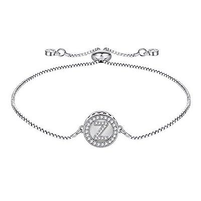 Amazon - Save 80%: IEFSHINY Initial Bracelet Handmade Initial Round Shell Letters Girls Bracele…