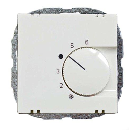 Raumtemperaturregler Reinweiß - passend für Busch-Jaeger Balance SI, Gira System 55, Berker S1, Merten M-Smart und Jung A 500 / CD 500