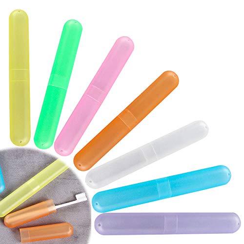 Ywoworld Tandenborstel-doos, draagbare reis-tandenborstel-box voor reizen, camping, school en thuis 7 Satz Mengkleur
