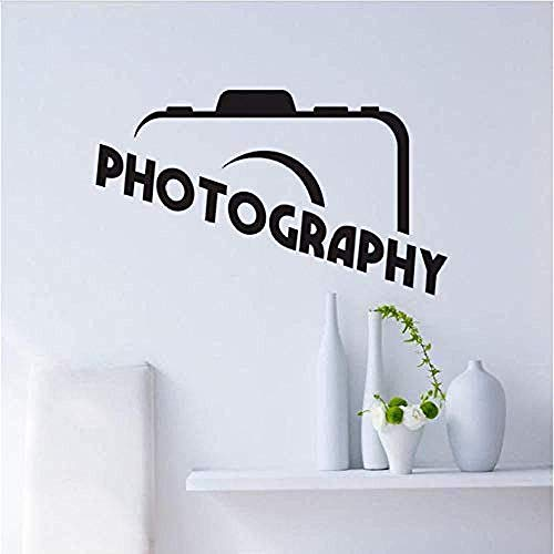 Wall stickers,Camera Quote Art Vinyl Decal Home Funny Decal Kitchen Restaurant Pub Wall Decor for Home Bedroom Office Saying Mural Wallpaper 44X75Cm