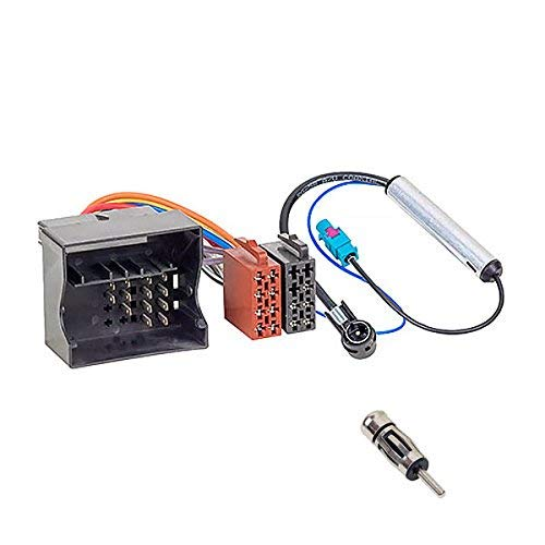 Audioproject A187 - Autoradio Einbau-Set Radioadapter + 2 Antennenadapter Phantomeinspeisung Fakra ISO DIN - Citroen Berlingo C2 3 4 C5 6 8 Peugeot 207 307 308