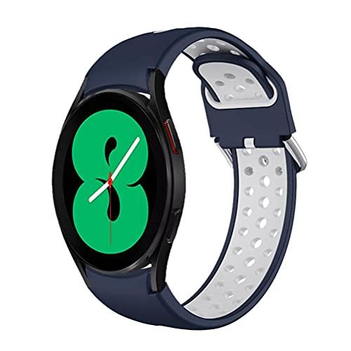 spier Correa de reloj compatible con Galaxy Watch 4, correa de repuesto clásica de silicona, correa de repuesto ajustable para hombres y mujeres