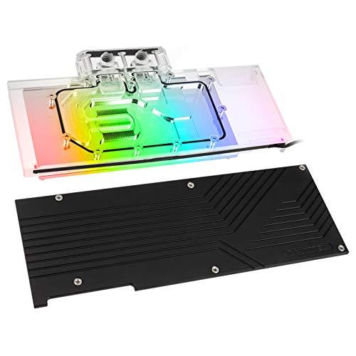 Raijintek Samos NV2080Ti - Full Cover und Backplate Grafikkarte Wasserkühlung für Nvidia RTX 2080 und RTX 2080 TI - transparentem Acryl-Glas mit adressierbarer RGB Beleuchtung