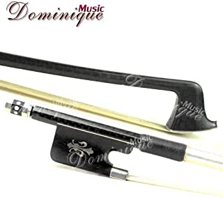 D Z Strad Cello Bow - Model 756 - Carbon Fiber Bow with Ebony Fleur-de-Lis Frog