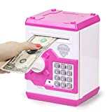 Refasy Children Money Bank Toy for Girls Boys Kids,Best Birthday Gifts for 6-15 Year Old Girl Boy Coin Banks for Kids ATM Bank Machine Real Piggy Bank with Code Electronic for Kids Age 8-12 Purple