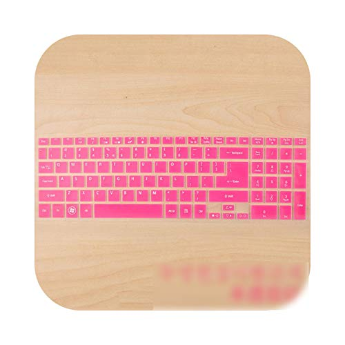 Keyboard cover 15.6 Silicone Keyboard Protector Skin for Acer Aspire E5-511G E15 ES1-512 VN7-791G EXTENSA 2508 ES1-531 EX2519 EK-571G Pink