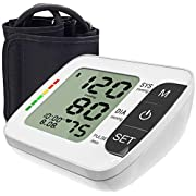 [2021 Latest] Blood Pressure Monitor Upper Arm Accurate Automatic Digital BP Machine Pulse and Heart Rate Voice Broadcast Monitor for Home Daily Use
