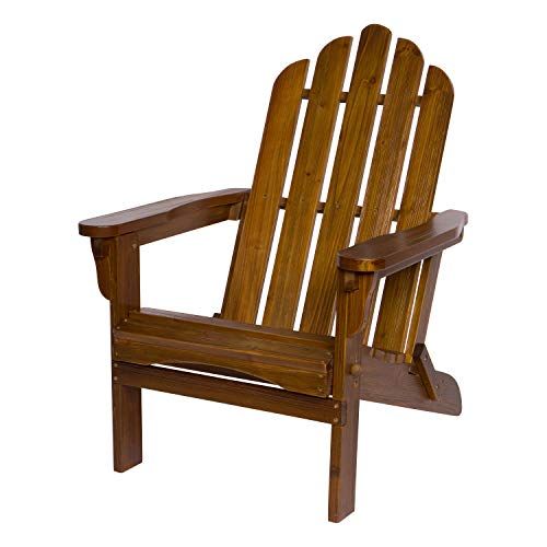 Shine Company 4659OA Marina II Hydro-TEX Finish, Oak Folding Adirondack Chair