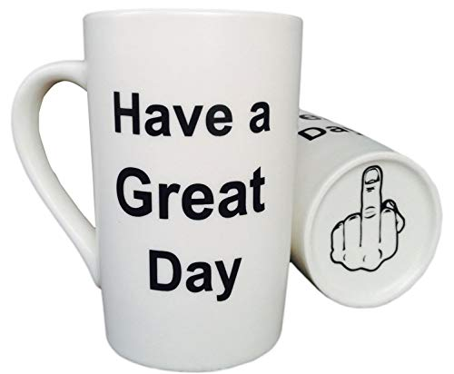 MAUAG Funny Coffee Mug Christmas Gifts Have a Great Day Cup White, Best Holiday and Family Gag Gift,...