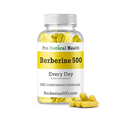 Special Introduction Offer: Berberine 500 mg I 180 high Strength Capsules I Supports Healthy Blood Sugar Levels I 100% Vegan & Organic