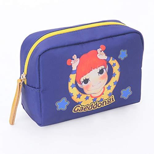Kiki Alta Capacidad de cosméticos Bolsa de la Mujer Neceser Bolsa Organizador del Viaje del Bolso de Kits de Belleza portátil Maquillaje Neceser (Color : Royal Blue)