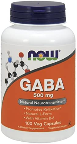 NOW Gaba 500mg, 100 Capsules (Pack of 2)