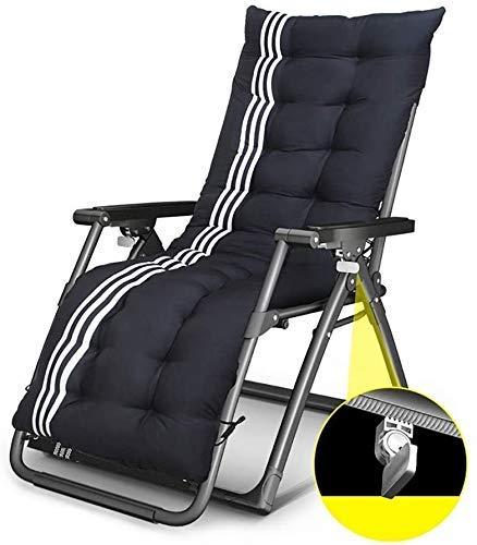 TGTGH Tumbona de jardín plegable tumbona reclinable para el jardín, al aire libre, tumbona plegable de gravedad cero sillón reclinable, soporta hasta 200 kg (color, negro b), negro B