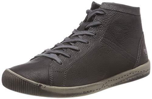 Softinos Damen Isleen Hohe Sneaker, Schwarz (Anthracite 061), 42 EU
