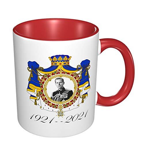 Tribute 1921-2021 - Taza de café de porcelana (325 ml), color rojo