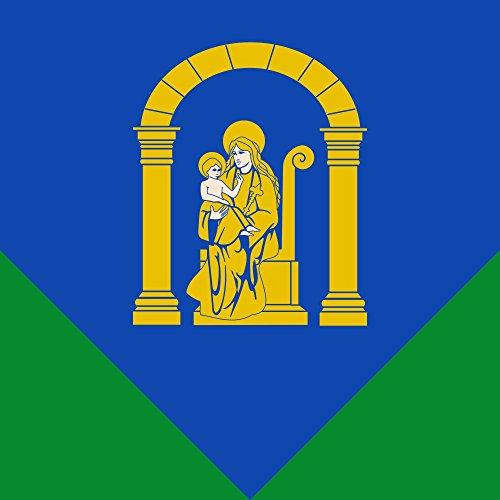 magFlags Bandera Large Azul aguzada en Alto de Verde | 1.35m² | 120x120cm