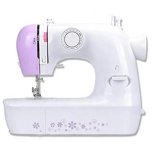 Compacte naaimachine met 12 steekpatronen voetpedalen en verlichting voor thuis voor huishoudens, reizen, kinderen, beginners