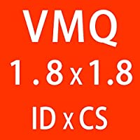 WYanHua-Oリングガスケット、座金・ワッシャー. 10ピース/ロットシリコンリングシリコーンVMQ Oリング、ゴムOリングシールガスケット、1.8mm厚さID1.8~4mm 素材製 (Color : ID1.8mm)