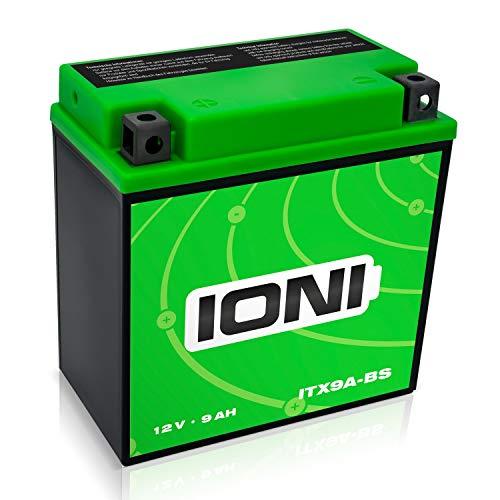 IONI 744298 ITX9A-BS   IB9-B 12V 9Ah AGM Compatibile con YB9-B   YTX9A-BS sigillato Manutenzione Libera Moto Batteria