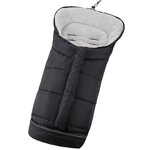 TecTake Saco de invierno dormir térmico para carrito silla de bebé universal abrigo polar - disponible en diferentes colores - (Negro | No. 400995)