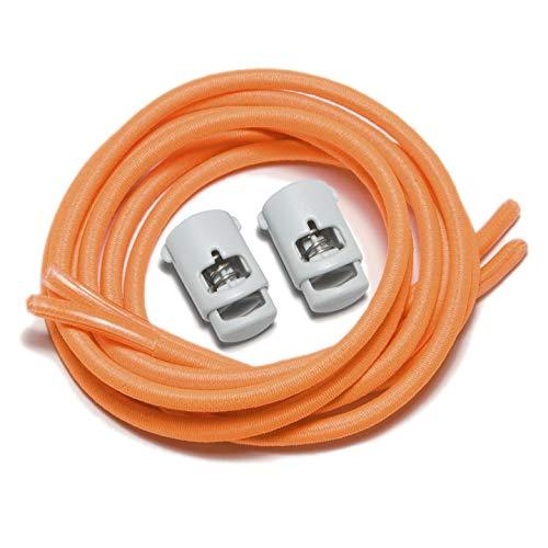 iBungee Laces (Elastic No Tie Shoelaces) (Florida Orange, 30-Inch)