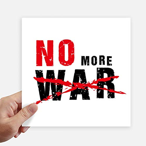 DIYthinker No More War Love Peace World Square Autocollants 20CM Mur Valise pour Ordinateur Portable Motobike Decal 4Pcs 20cm x 20cm Multicolor