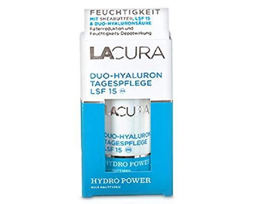LACURA Duo-Hyaluron Tagespflege, reichhaltige Pflege mit Feuchtigkeitsspeicher und LSF 15 50 ml